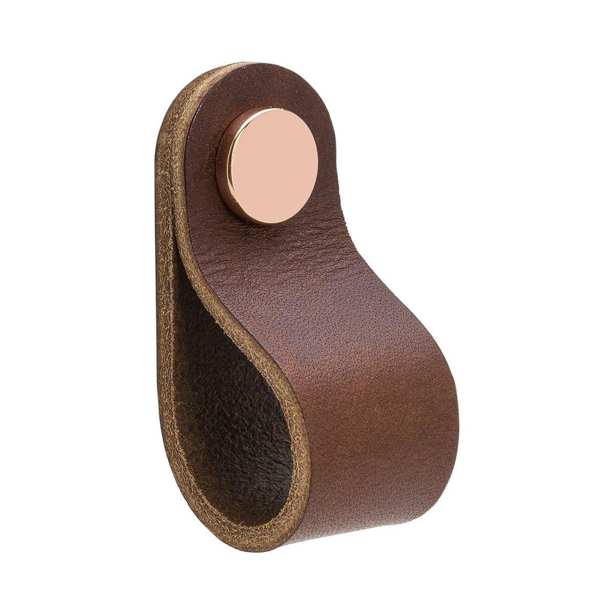Loop Round - läder brun / koppar