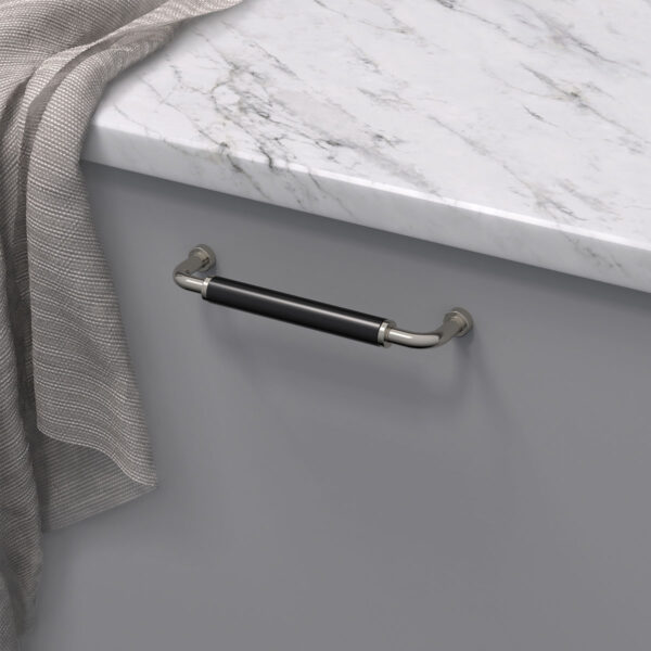 Handtag brohult m fornicklad svart 397045 11 cc 128 mm ncs s 4500 n marmor carrara