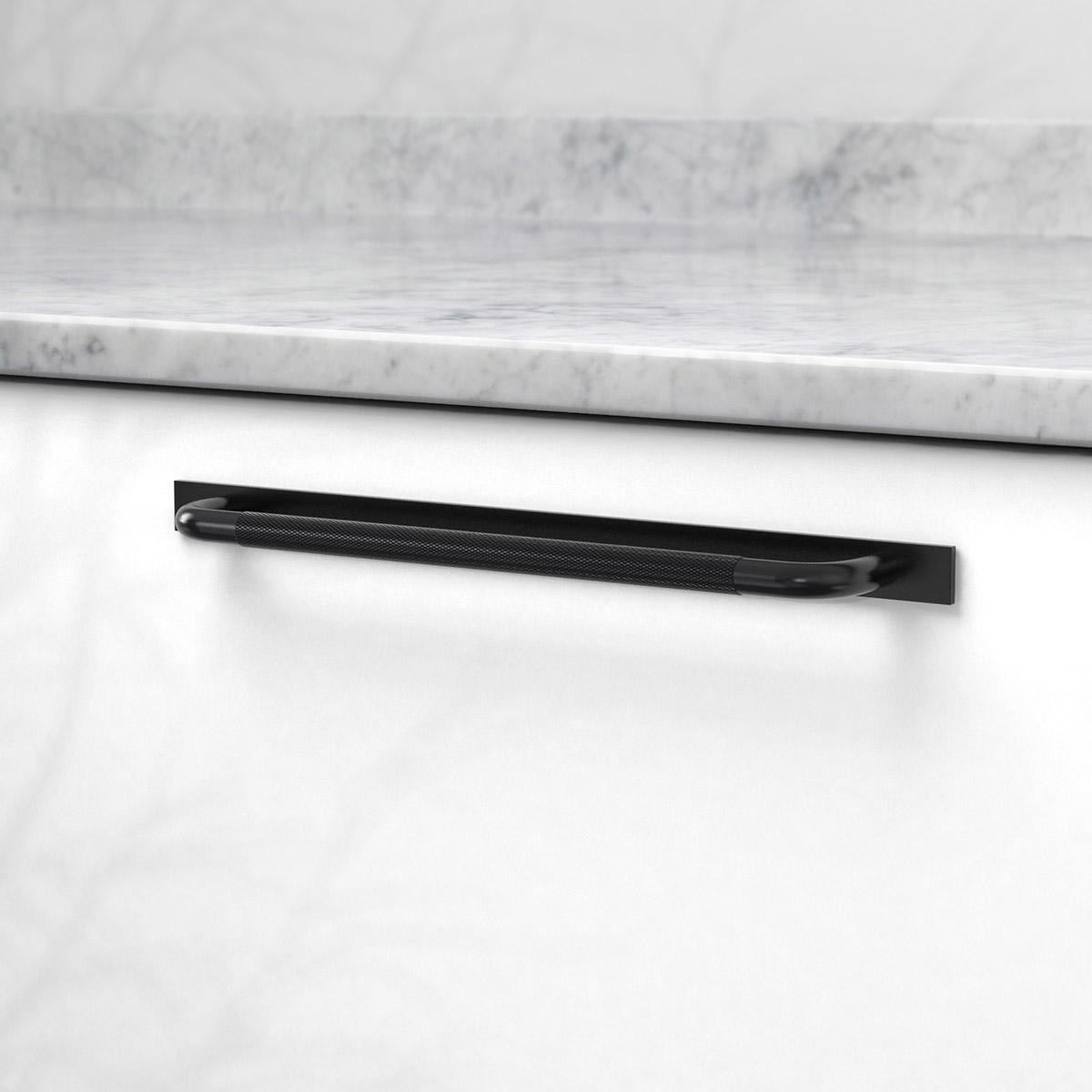 Handtag helix med bricka matt svart 309085 11 cc 224 mm ncs s 3000 n granit svart