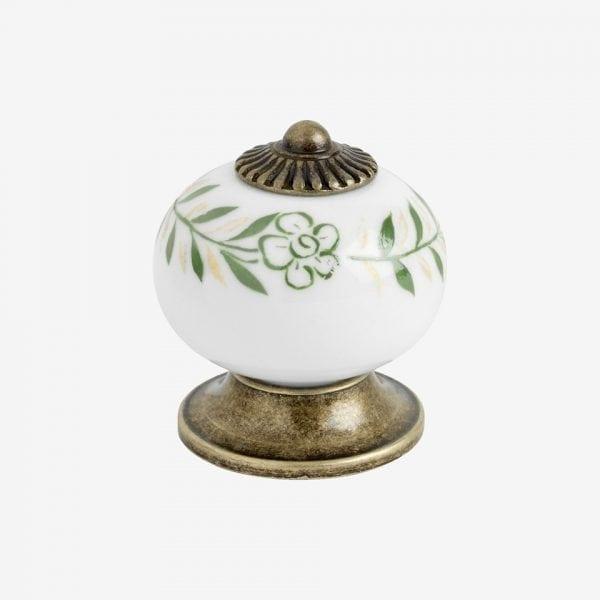 Knopp 8131 - antik / porslin vit/grön
