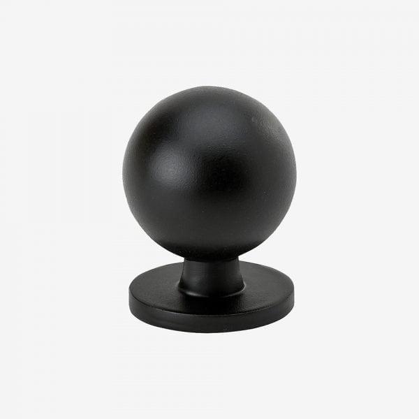 Knopp Soliden - matt svart