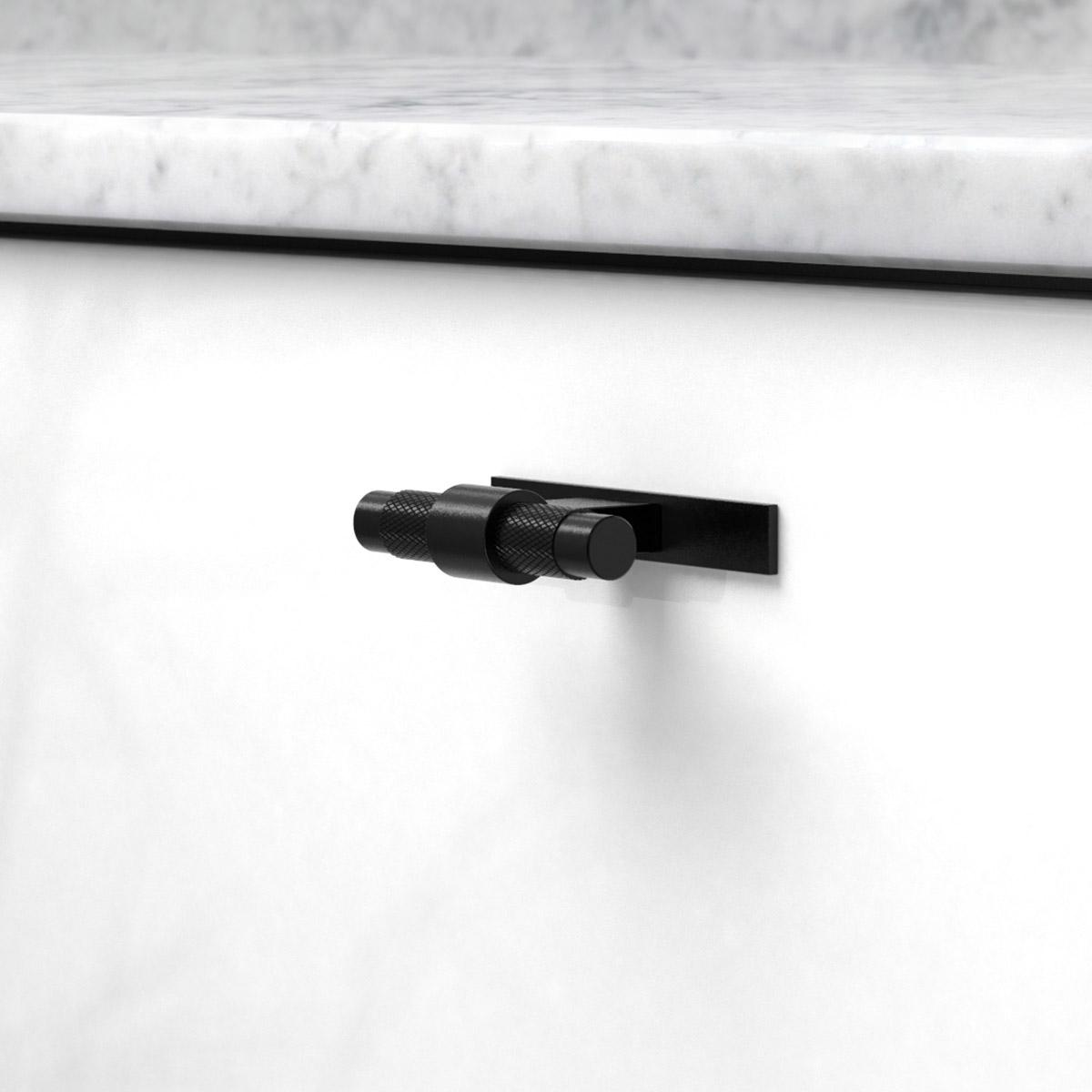 Knopp pitch med bricka matt svart 309110 11 ncs s 0300 n marmor carrara