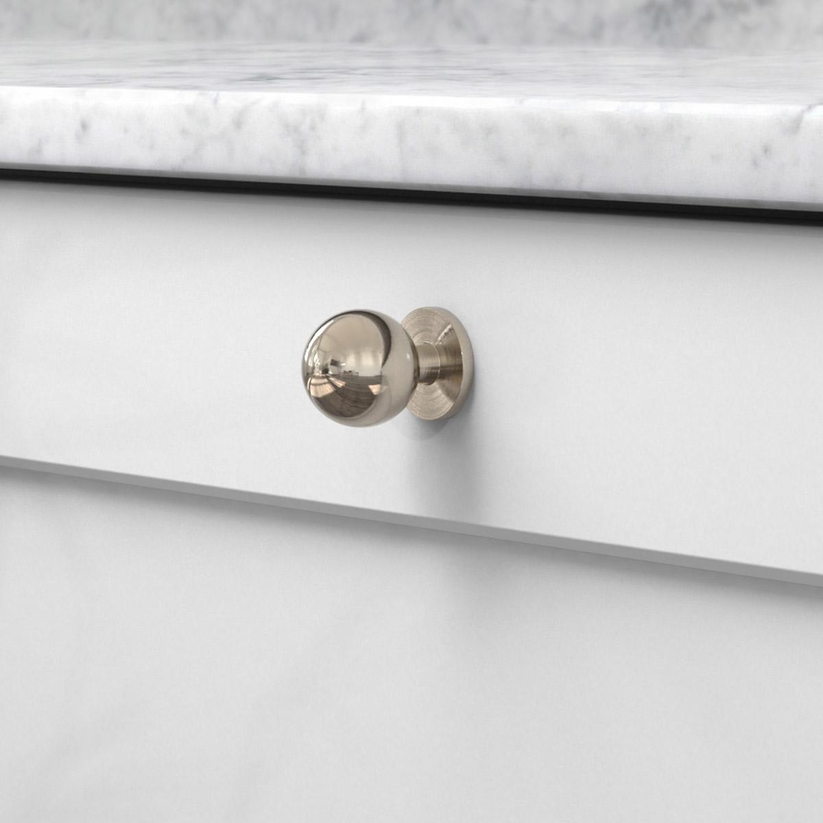 Knopp soliden förnicklad 339430 11 25 mm ncs s 3000 n marmor carrara
