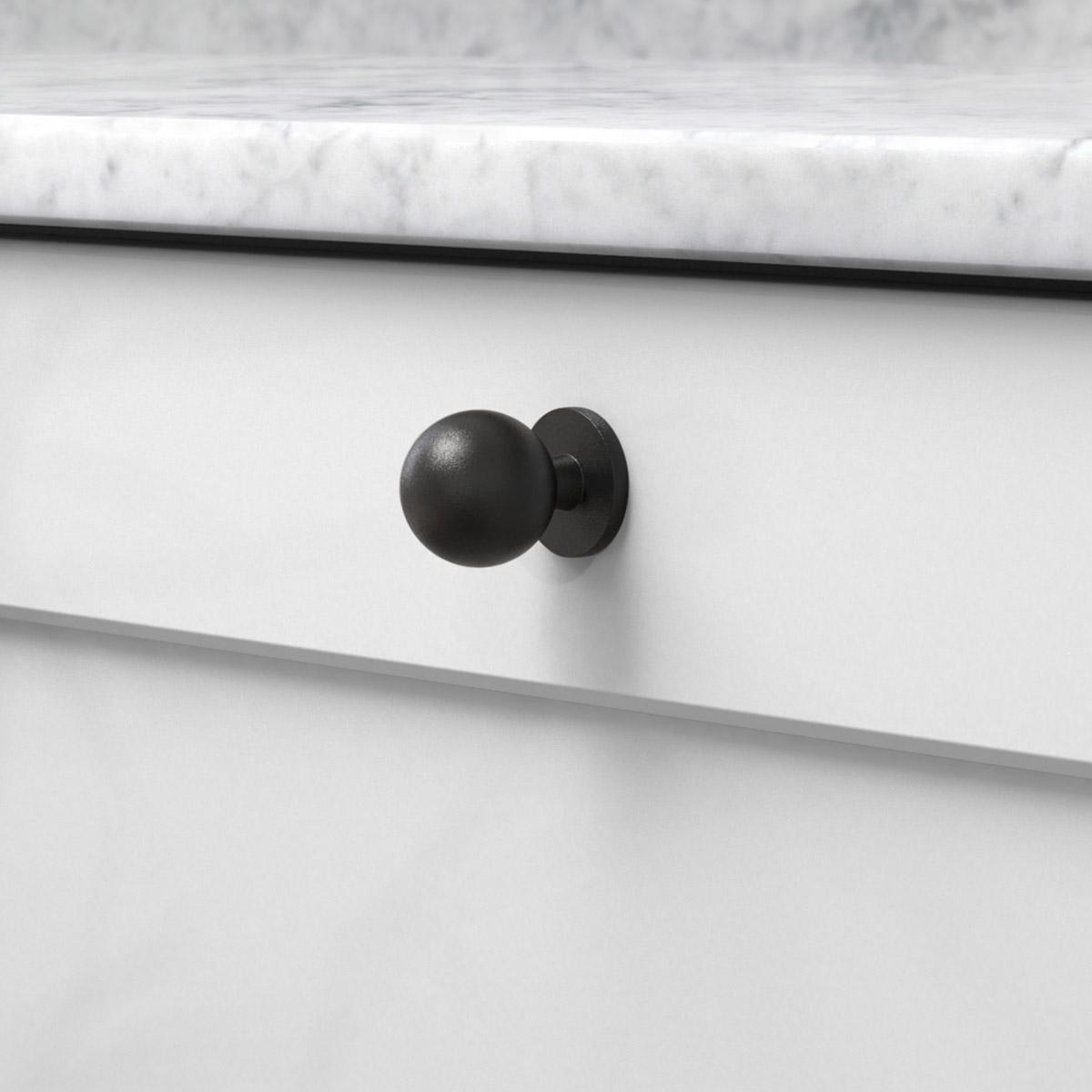Knopp soliden matt svart 339432 11 25 mm ncs s 3000 n marmor carrara