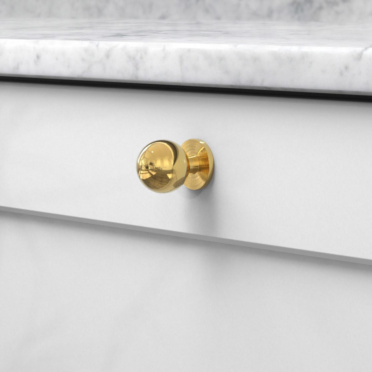 Knopp soliden polerad massing 339431 11 25 mm ncs s 3000 n marmor carrara