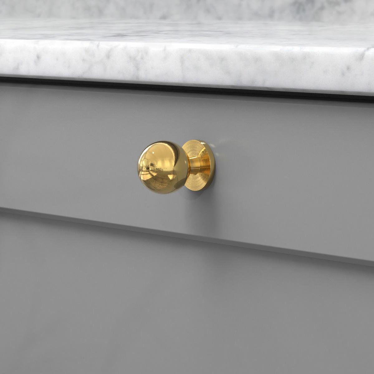 Knopp soliden polerad massing 339431 11 25 mm ncs s 4500 n marmor carrara