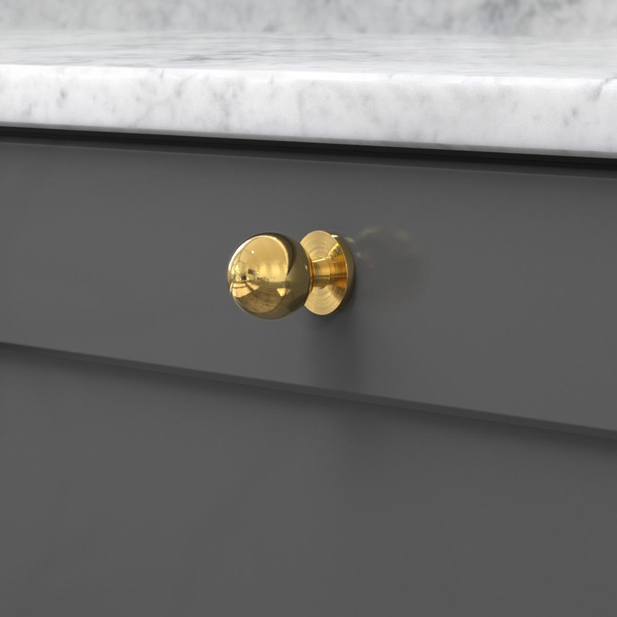 Knopp soliden polerad massing 339431 11 25 mm ncs s 7500 n marmor carrara