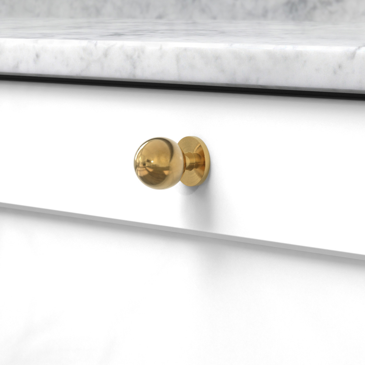 Knopp soliden polerad obehandlad 339433 11 25 mm ncs s 0300 n marmor carrara