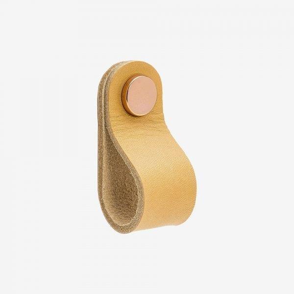 Loop Round - läder / natur koppar