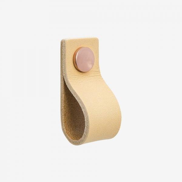 Loop - läder / natur koppar