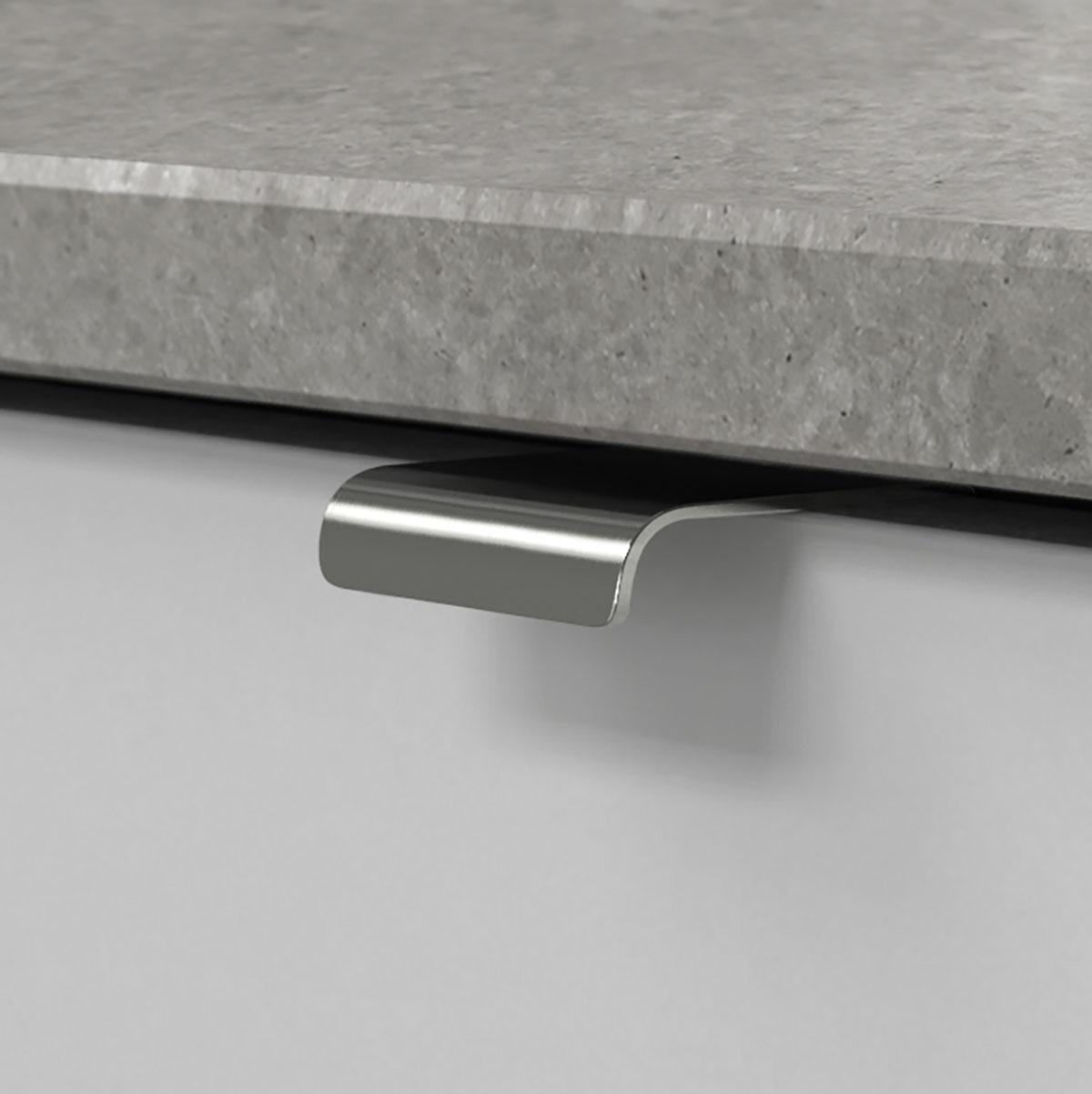 Profilhandtag lip krom 343453 11 40 mm ncs s 3000 n noble concrete grey
