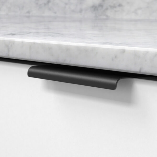 Profilhandtag lip svart 343458 11 120 mm ncs s 0300 n marmor carrara