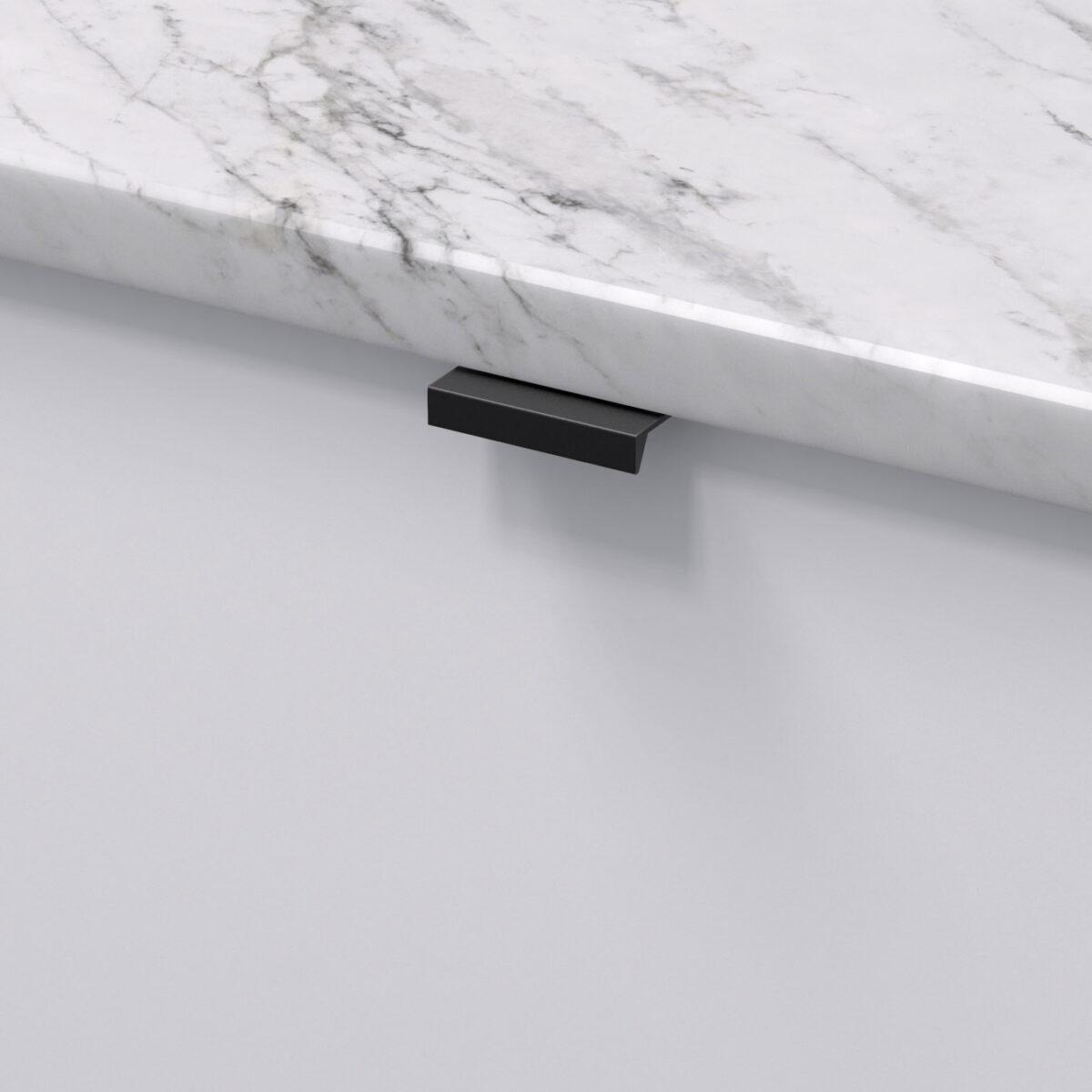 Profilhandtag slim 4025 matt svart 305175 11 40 mm ncs s 0300 n marmor carrara