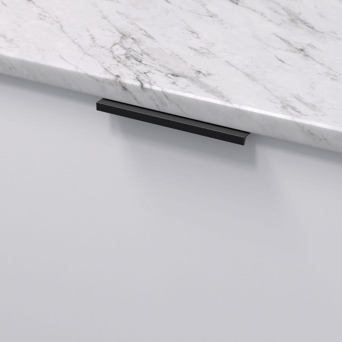 Profilhandtag slim 4025 matt svart 305176 11 136 mm ncs s 0300 n marmor carrara
