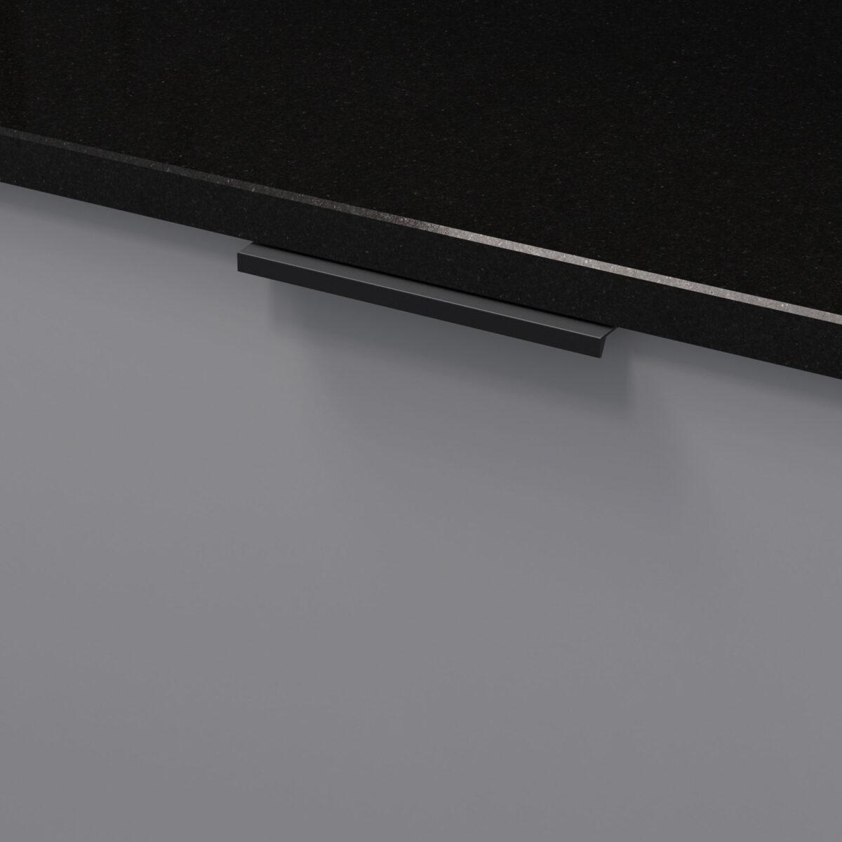 Profilhandtag slim 4025 matt svart 305176 11 136 mm ncs s 4500 n granit svart