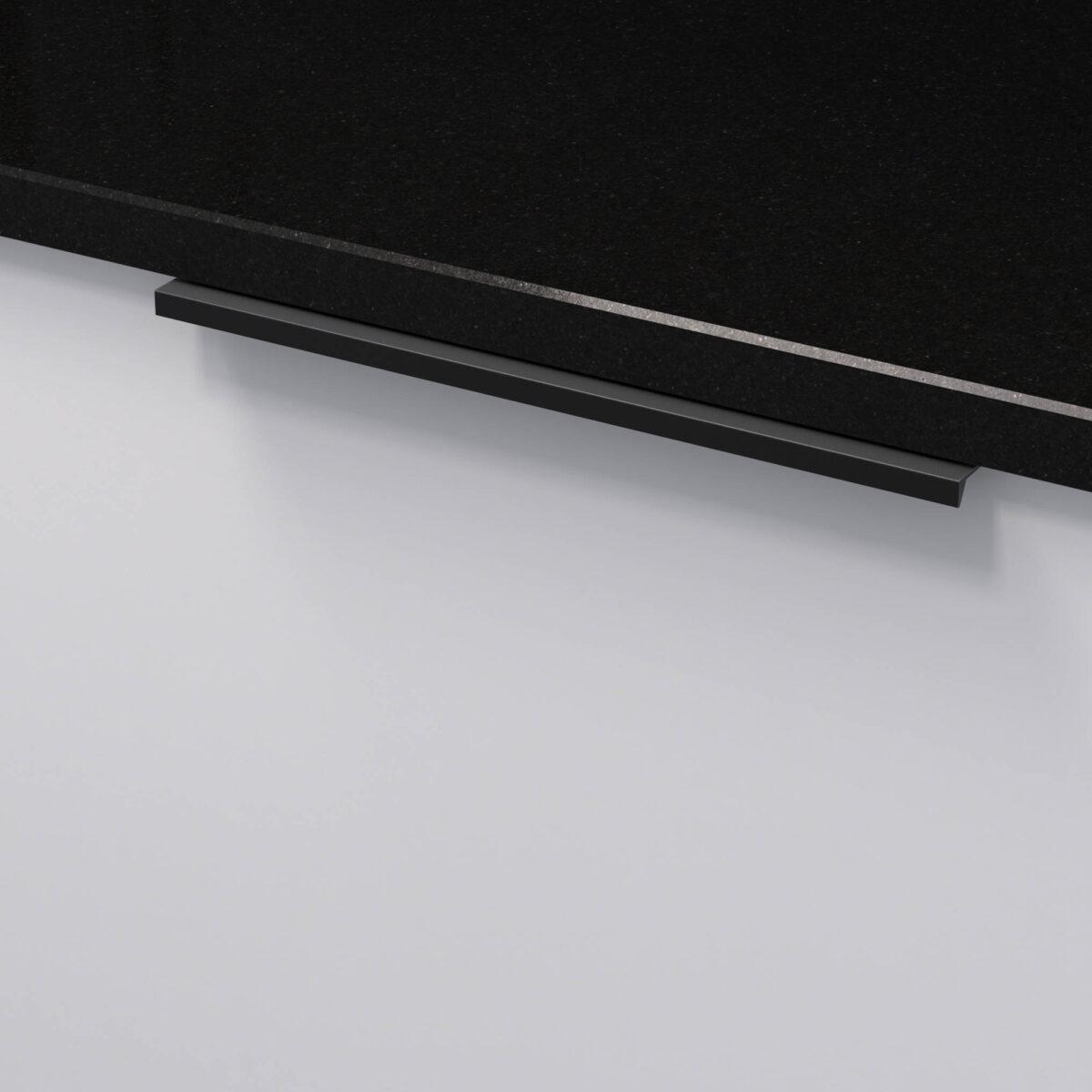 Profilhandtag slim 4025 matt svart 305196 11 232 mm ncs s 0300 n granit svart 2