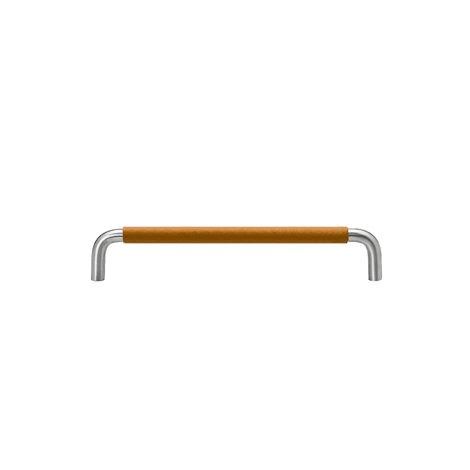 Handtag SS-A rostfritt / lädersvept natur