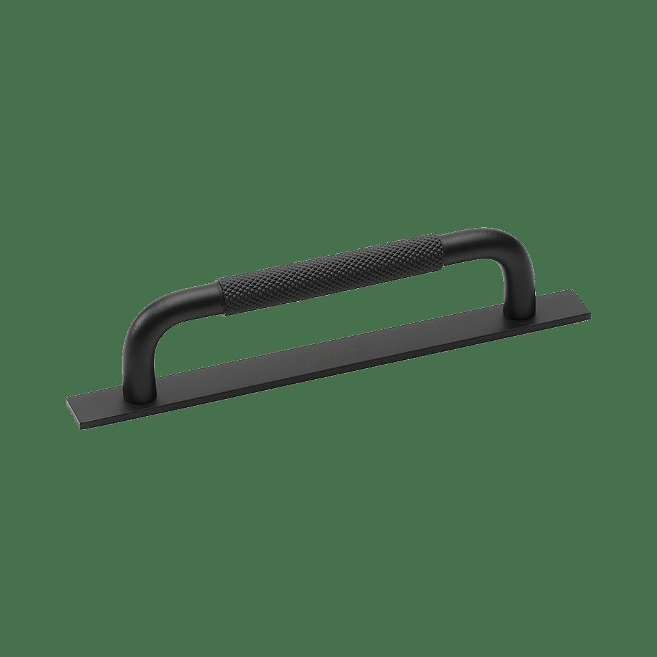 Handtag Helix - med bricka / matt svart
