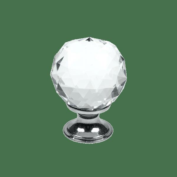 Knopp Diamond glas krom 430002 11