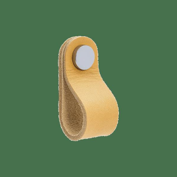 Loop Round - läder natur / polerad krom