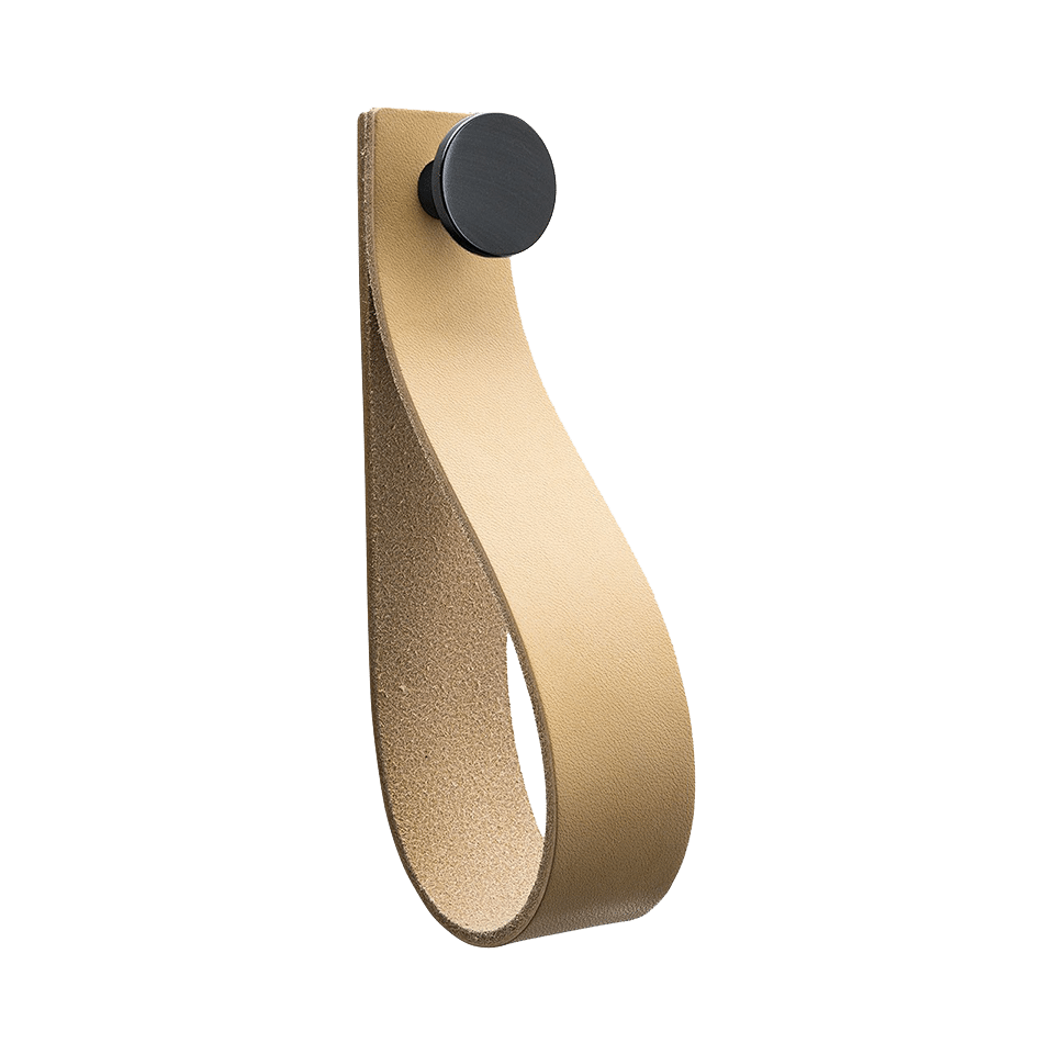 Loop Strap - läder natur / svart