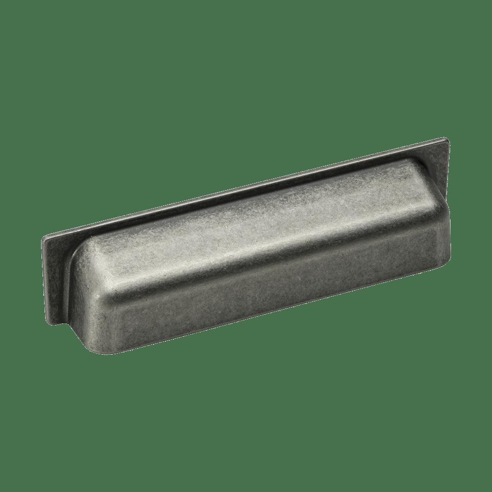 Skålhandtag Shell - antik tenn
