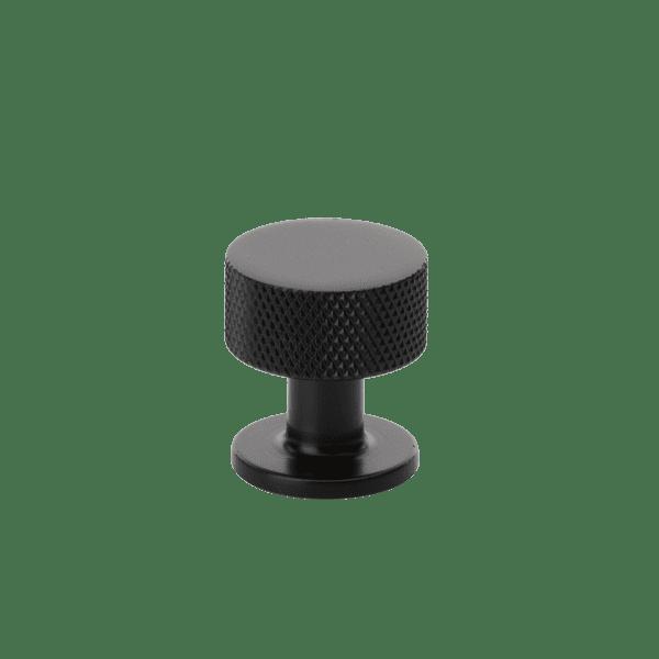 Beslag Design Knopp Crest mattsvart diameter 26mm