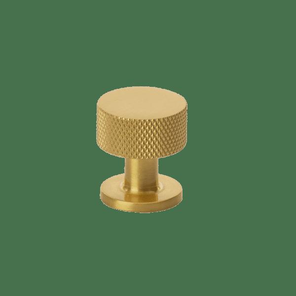 Beslag Design Knopp Crest mässing Ø26mm