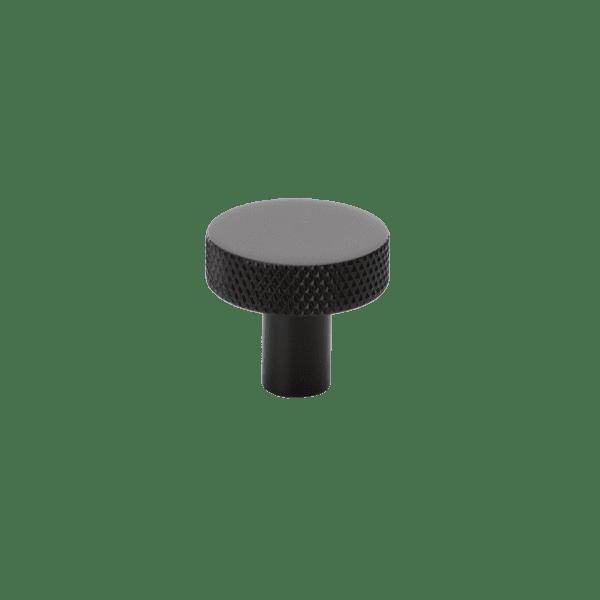 Knopp Flat Beslag Design mattsvart Ø26