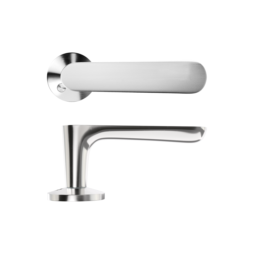 Haboselection exterior door handle chrome 18081 double