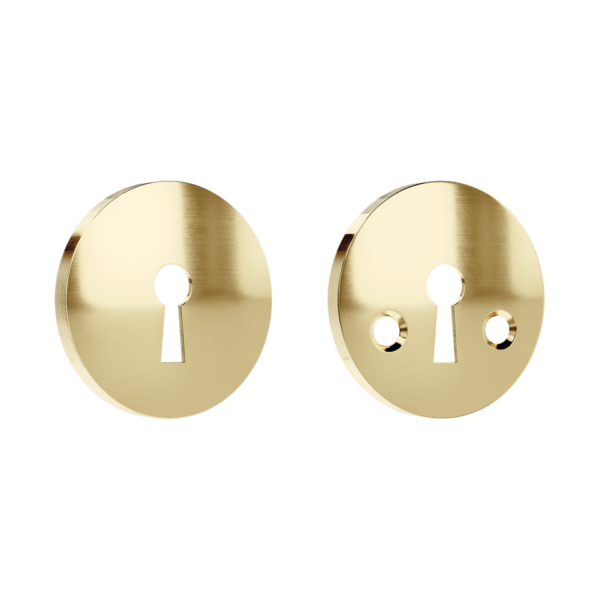 Haboselection keyhole escutcheon brass 18091 double