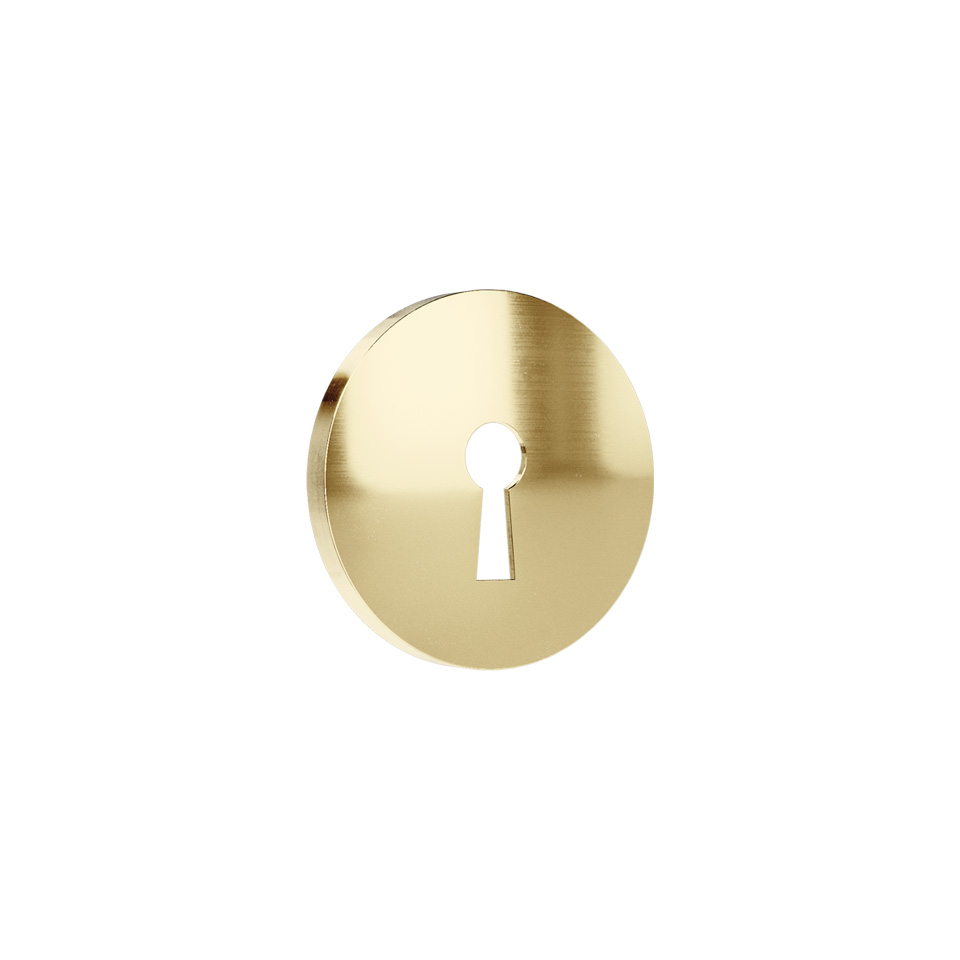 Haboselection keyhole escutcheon brass 18091