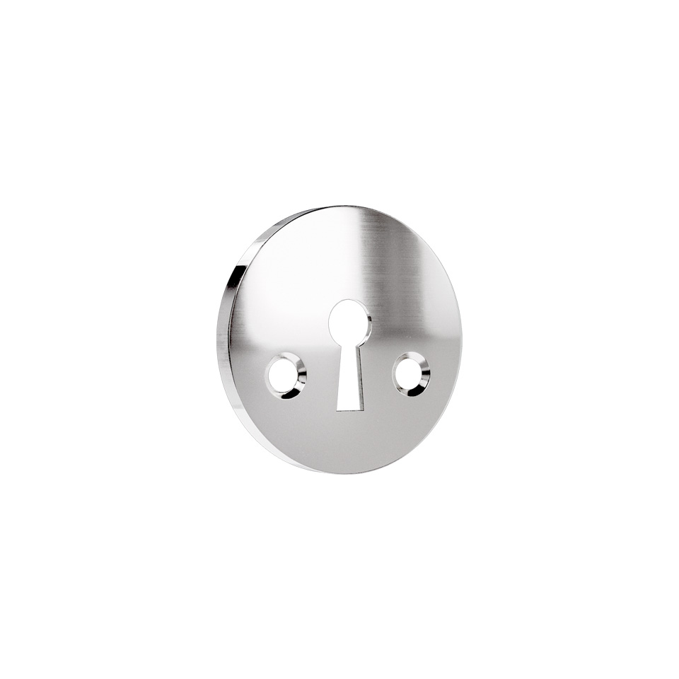 Haboselection keyhole escutcheon chrome 18090 2