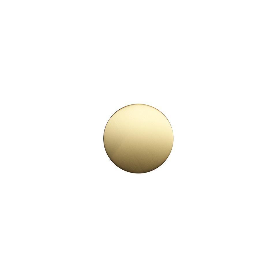 Haboselection knob brass 18093 top
