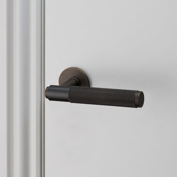 Buster Punch door lever handle smoked UNSPRUNG high res