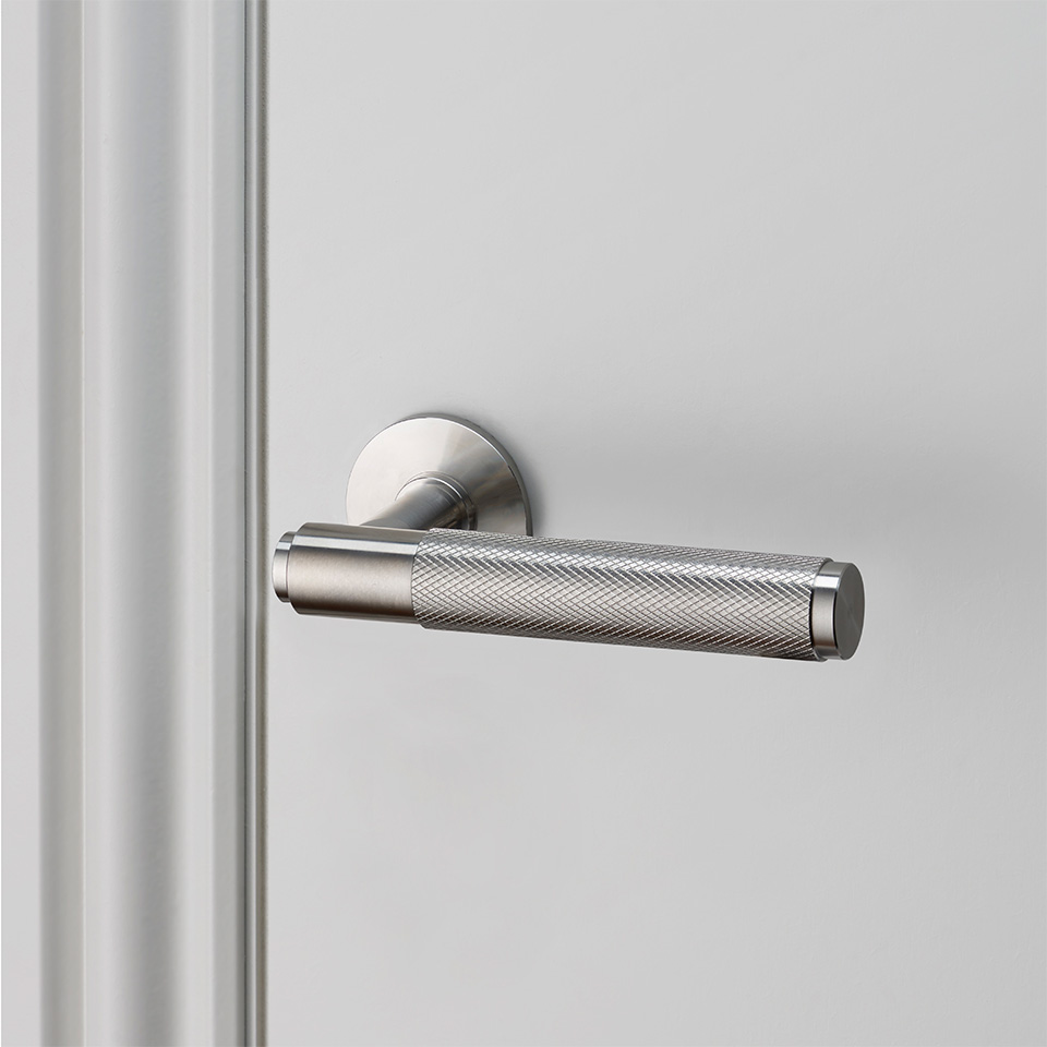 Buster Punch door lever handle steel UNSPRUNG high res sq 960x960px