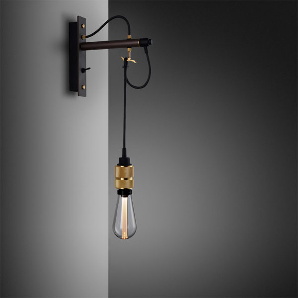 1. BusterPunch Hooked Wall Graphite Brass Crystal Bulb 1