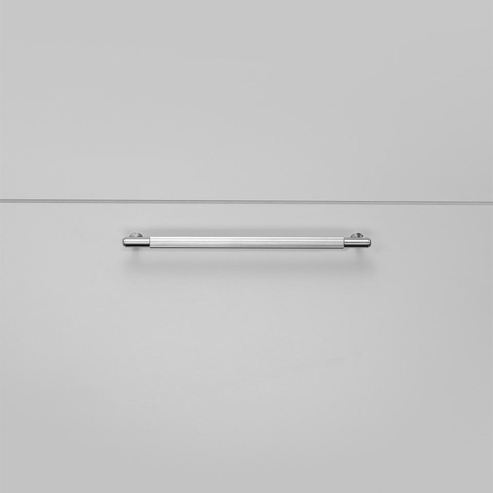 BP Pull Bar Linear Medium Steel Front