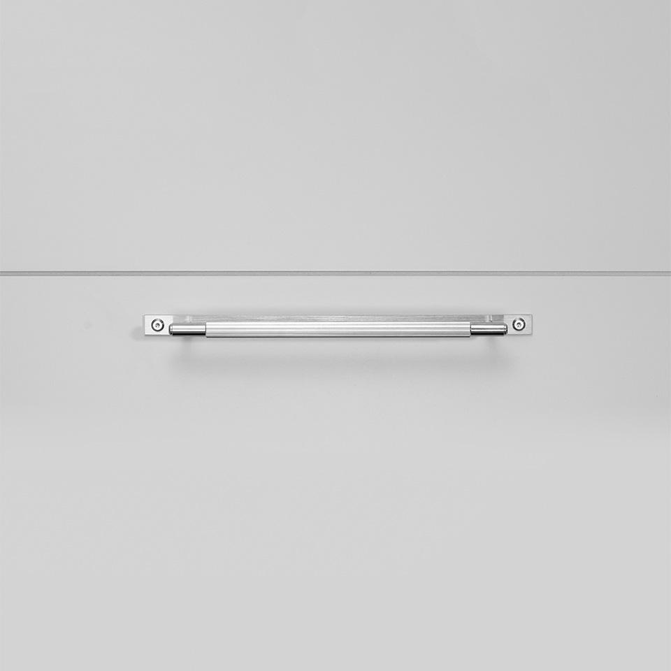 BP Pull Bar Plate Medium Steel Front