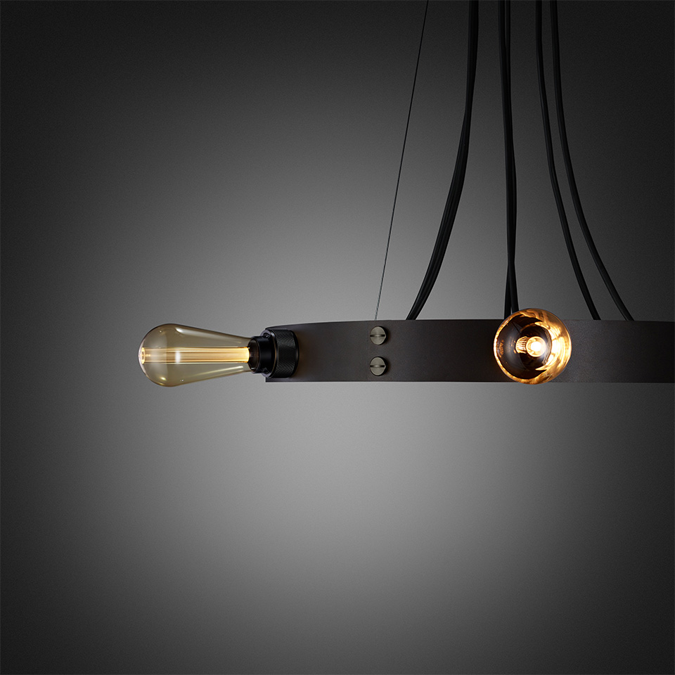 BusterPunch Hero Light Graphite Smoked Bronze Gold Bulb Detail