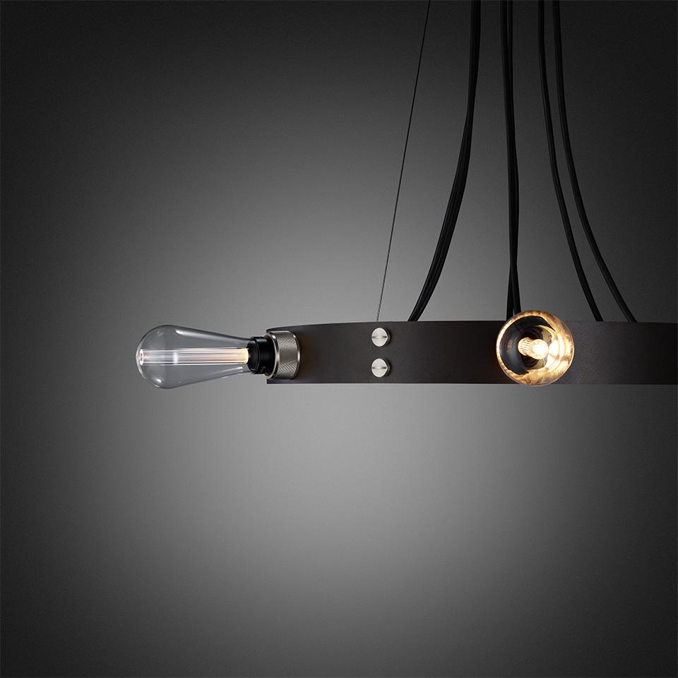 BusterPunch Hero Light Graphite Steel Crystal Bulb Detail