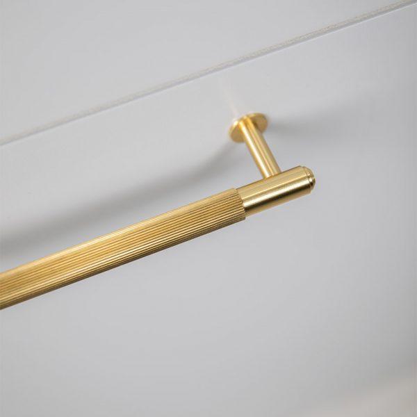 BP Pull Bar Plate Brass 2