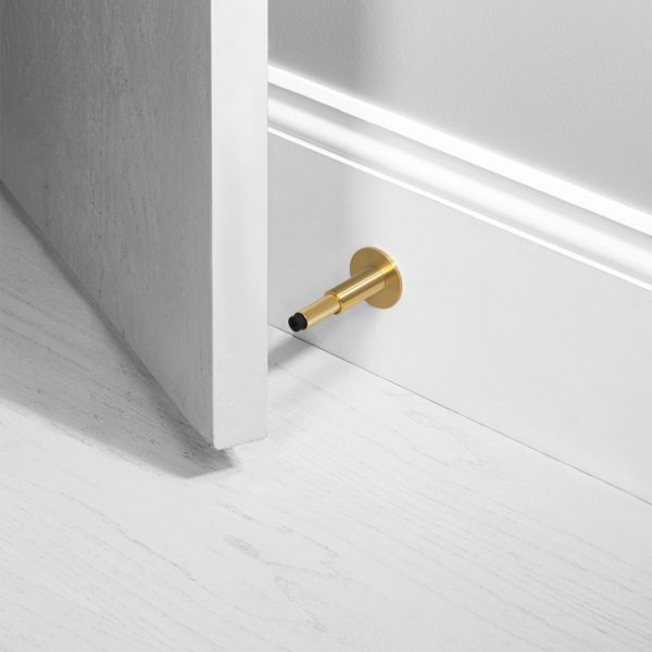 BP Door Stop Mounted Brass