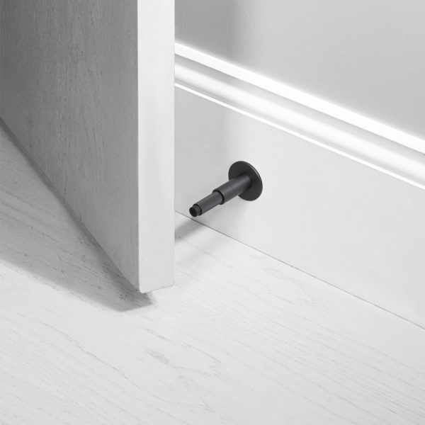 BP Door Stop Mounted Smoked Bronze