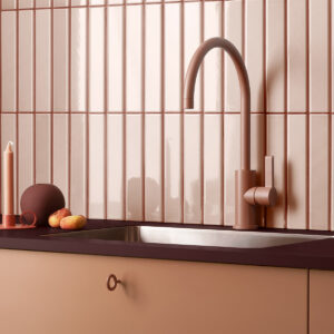 0077 Toniton 03F 368 Peach burgundy laminate key handle original 506207