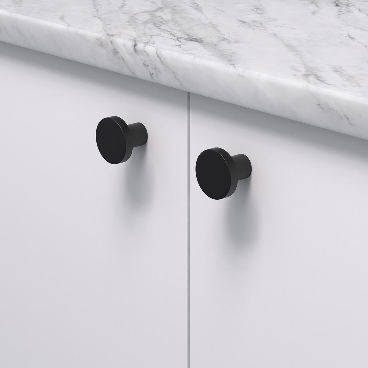 Knopp 2078 svart 368053 11 28 mm ncs s 0300 n marmor carrara