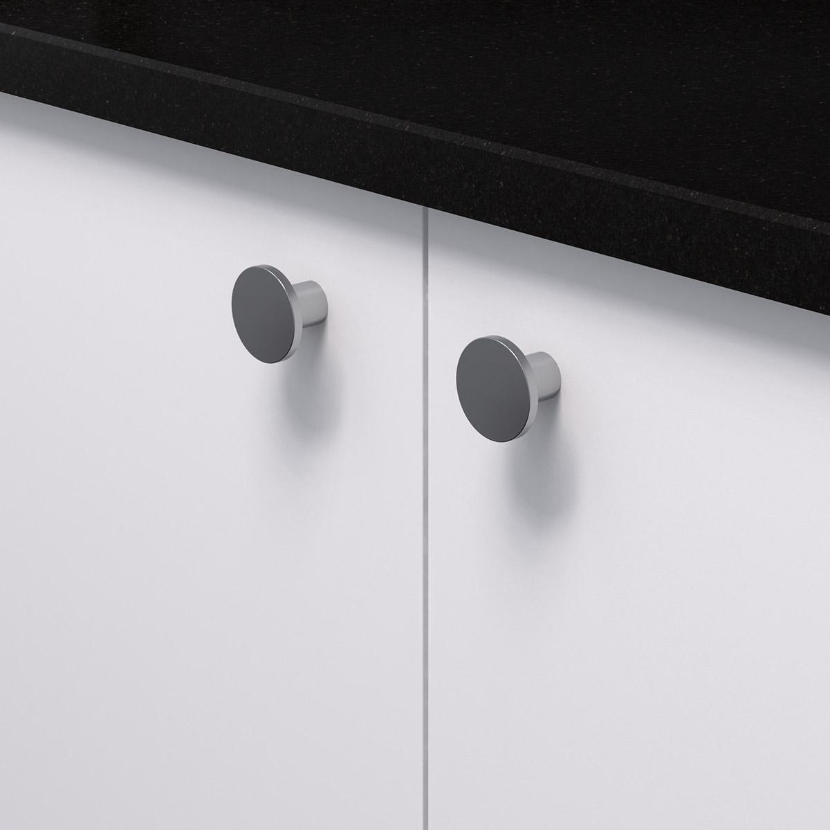 Knopp como krom 343275 11 26 mm ncs s 0300 n granit svart