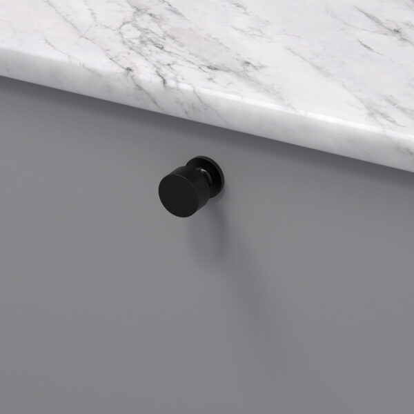 Knopp crest matt svart 309130 11 26 mm ncs s 4500 n marmor carrara