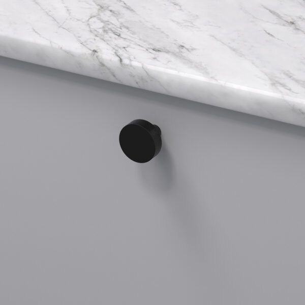 Knopp flat matt svart 309160 11 32 mm ncs s 3000 n marmor carrara