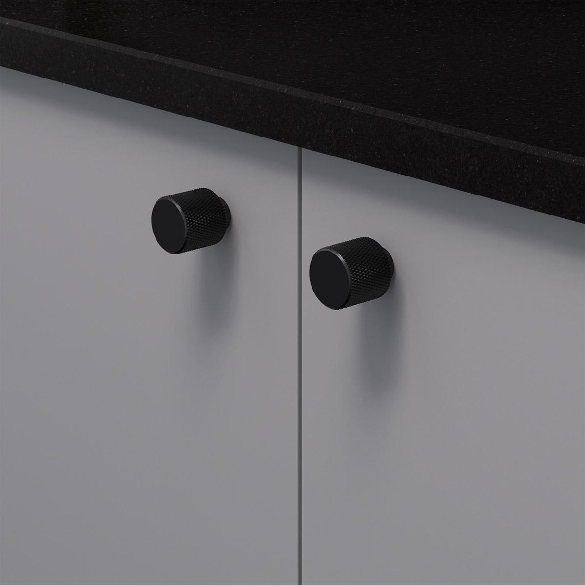 Knopp helix matt svart 309025 11 20 mm ncs s 4500 n granit svart